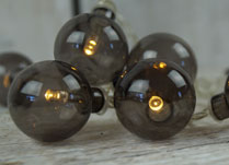 Glass Baubles with LED Lights