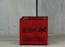 Red Christmas Tealight Holder
