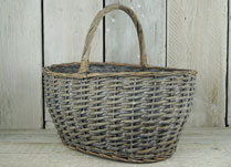 Traditional Shape Wicker Shopping Basket