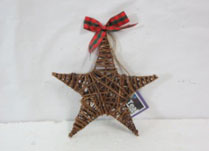 Extra Large Wicker Star with Ribbon