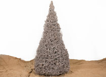 Large Whitewashed Cotton Root Christmas Tree