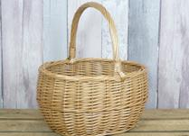 Antique finish willow shopping basket