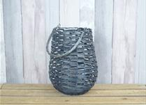 Blue wicker lantern (large)