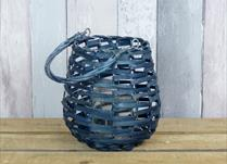 Blue wicker lantern (small)