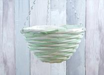 Green and Natural Core Willow Hanging Basket