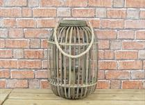 Wicker lantern (large)