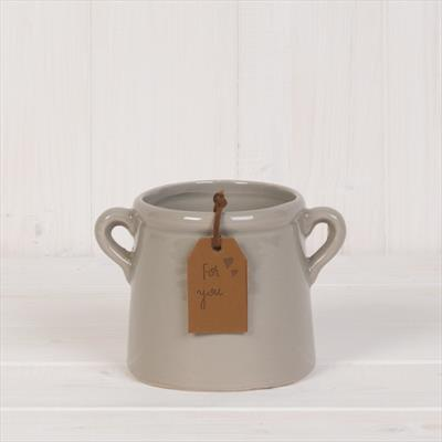 Grey Tapered Pot