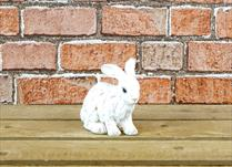 Large White Polyresin Rabbit