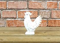 Large White Polyresin Hen
