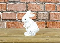 Small White Polyresin Rabbit