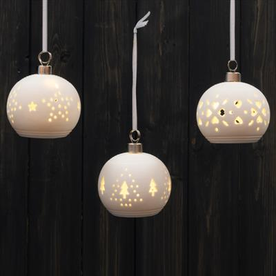 LED Ceramic Baubles
