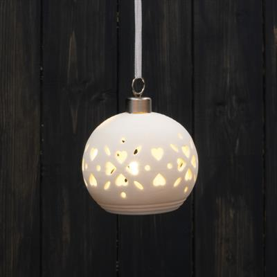White Light up Bauble
