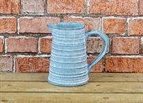 Dark Blue Stone Jug Planter