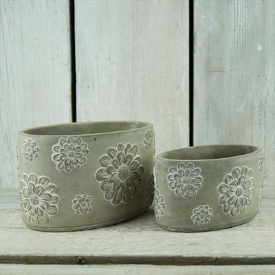 Cement Pots in two sizes