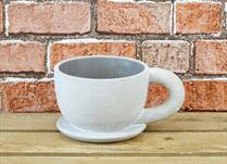 Stone Cup and Saucer