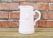 Pink Ceramic Jug with Butterfly Detail