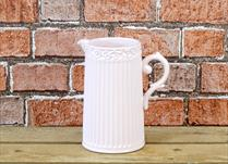 Pink Ceramic Ribbed Jug