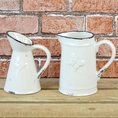 Ceramic Butterfly Jugs