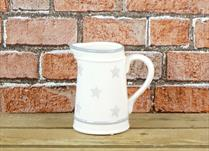 Cream Ceramic Jug with faded Star detail