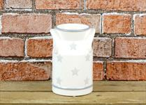 Cream Ceramic Milk Churn with Faded Star detail