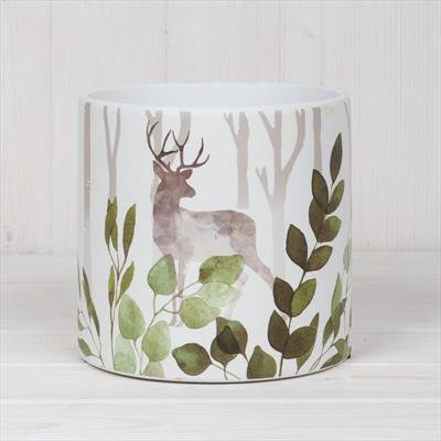 Ceramic Pot with Woodland Theme