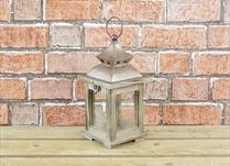 Wooden Lantern with Bronze colour lid and Handle