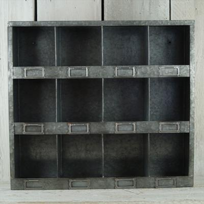 Metal pigeon holed cabinet