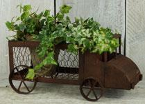 Rust Effect Delivery Van Planter