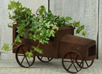 Rust Effect Bus Planter