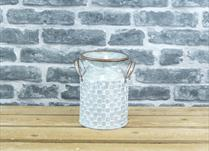 Small Zinc Milk Churn Planter