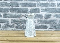 Small Decorated Zinc Jug with Handle