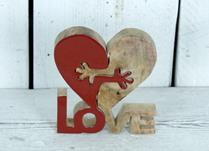 Wooden Heart Love Hug