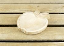 Large Wooden Apple Shaped Plate