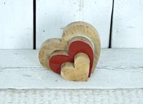 Wooden Heart Puzzle Display