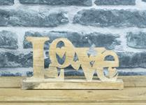 Wooden Love Display
