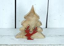Large Wooden Puzzle Tree with Reindeer