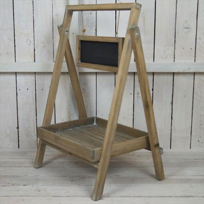 Greywashed Wooden Plant Stand