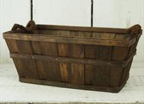 35cm Chestnut Brown Plywood Trough with rope ears