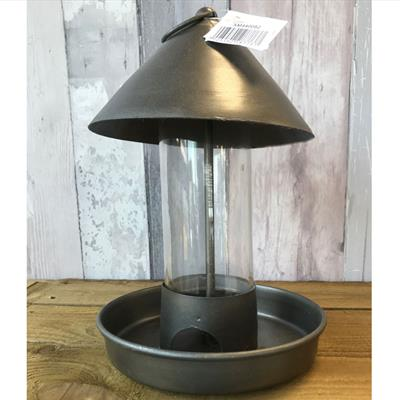 Zinc Effect Bird Feeder