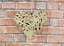 Medium Hanging Straw Heart