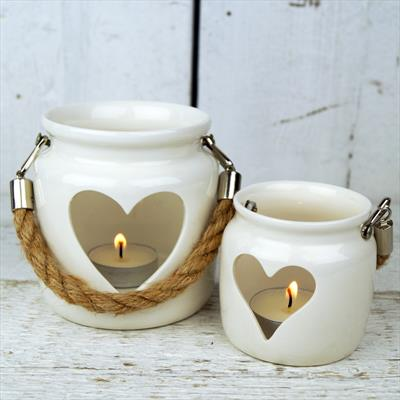 White Porcelain Tealight Holders