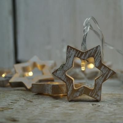 White and Gold LED Stars