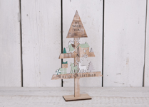 We Wish You A Merry Christmas Wooden Tree