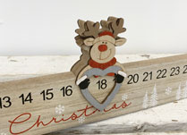 Long Advent Calendar with Reindeer Marker