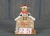 Christmas Hut with Deer Advent Calendar