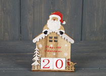 Christmas Hut with Santa Advent Calendar