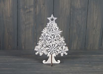 White Star-Topped Wooden Tree