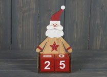 Wooden Santa Advent Calendar