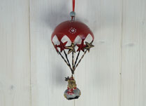 Hanging Reindeer with Red Parachute