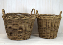 Set of Two Round Heavy Duty Baskets detail page